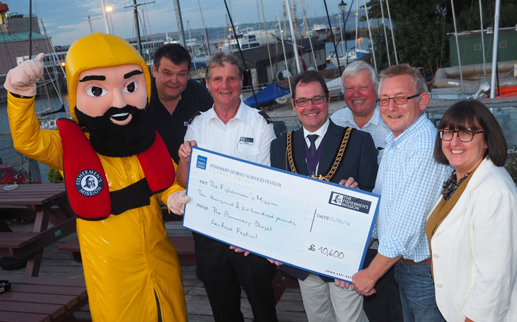 Fishermen's Mission Cheque Presentation